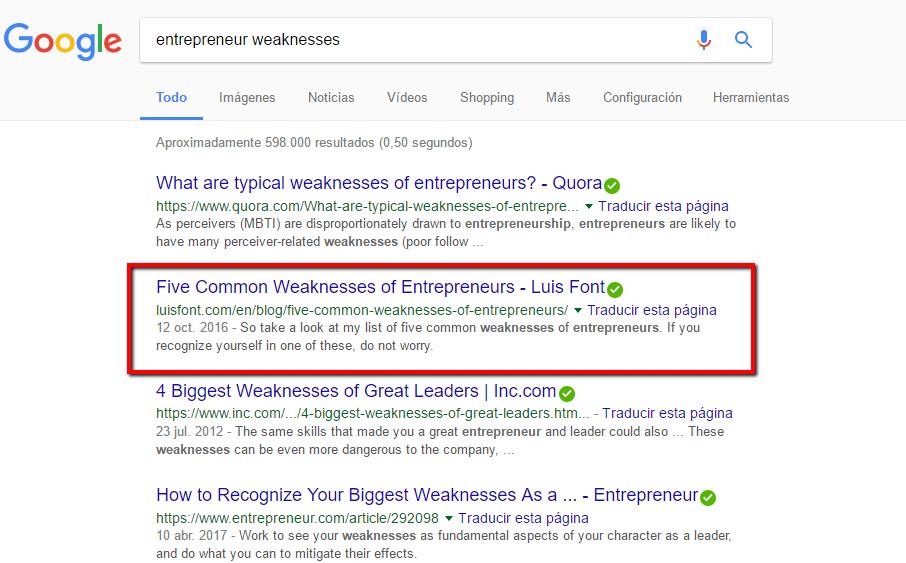 Cómo aparecer en Google
