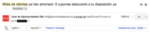 email marketing prueba social