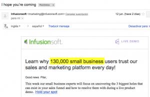 email marketing persuasivo prueba social