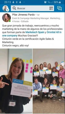 Captura Linkedin Pilar Jimenez Digital Coach