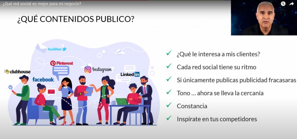 en que redes sociales debe estar mi negocio y que contenido publicar
